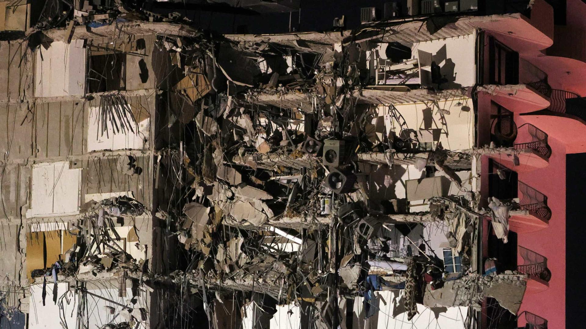 Pelo menos um morto e vários feridos após queda de edifício em Miami