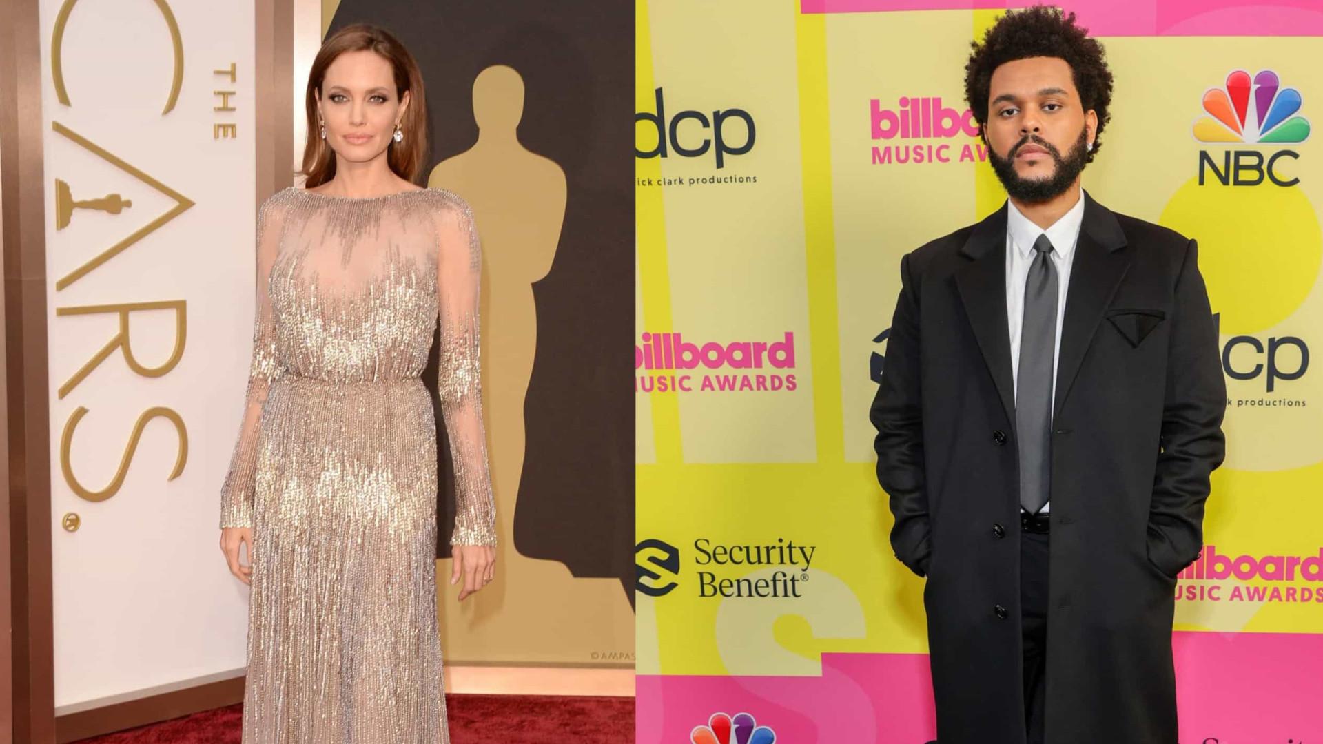 Angelina Jolie não gostou que a questionassem sobre The Weeknd?