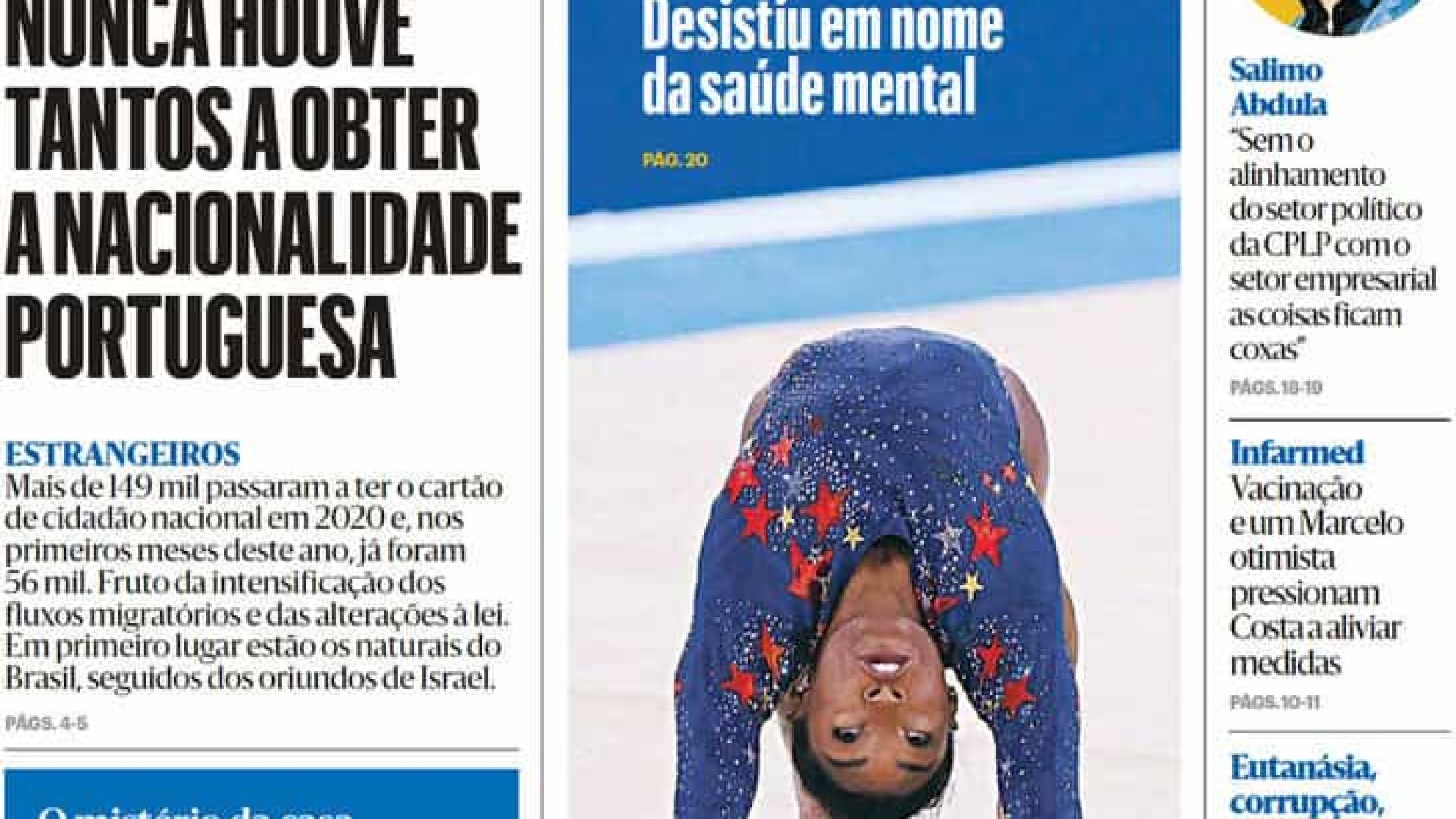 Hoje é notícia: Há mais naturalizados; Proença de Carvalho investigado