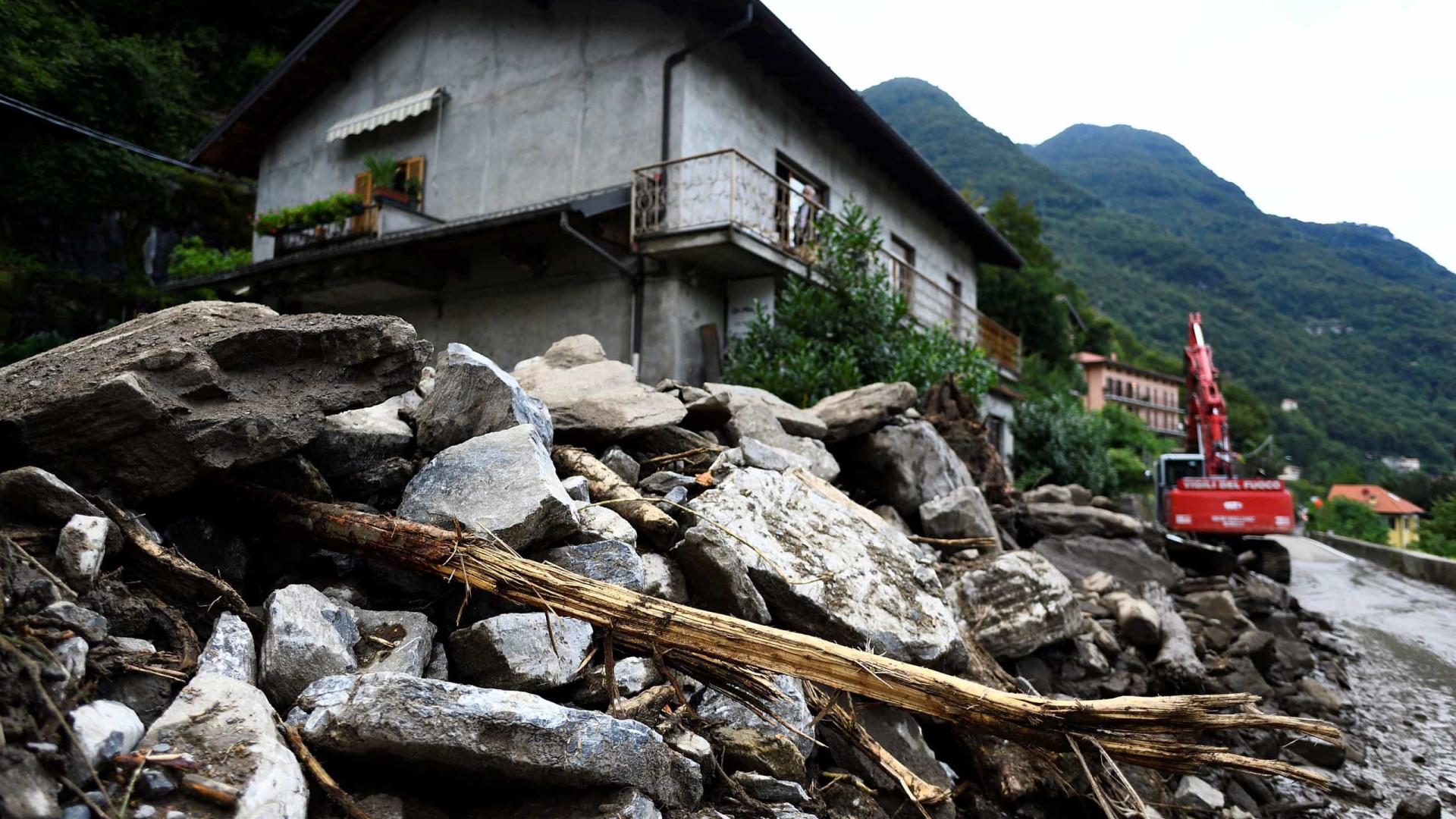 Cidades do norte de Itália entre inundações e tempestades de granizo