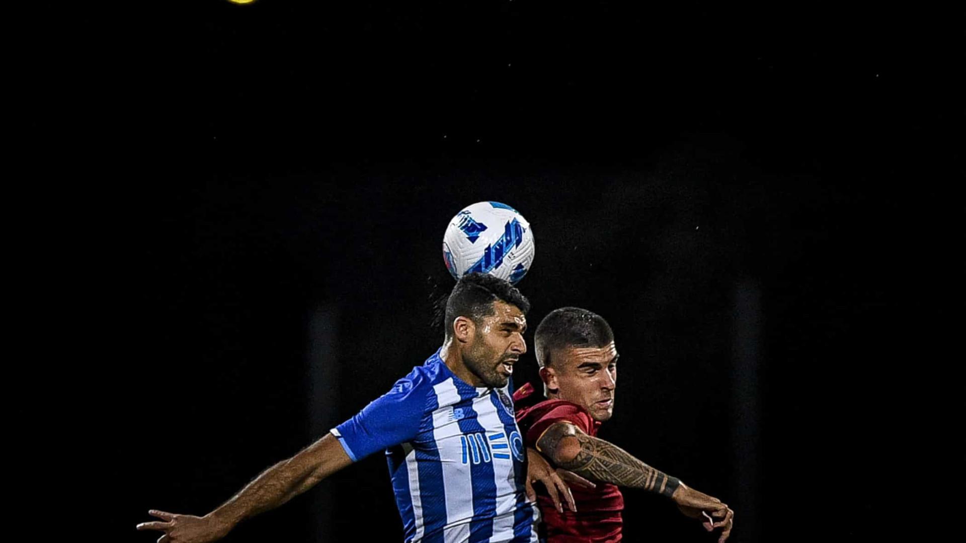FC Porto e AS Roma empatam em 'duelo quentinho' no Algarve