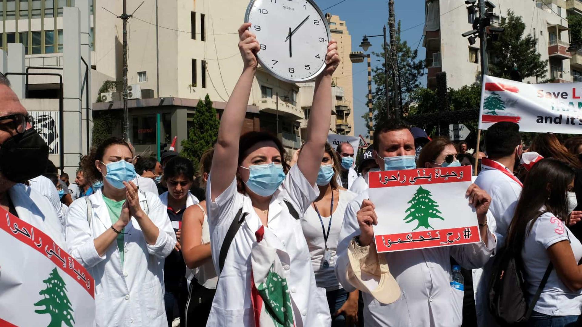 Beirute. Libaneses marcam aniversário de incidente com protestos