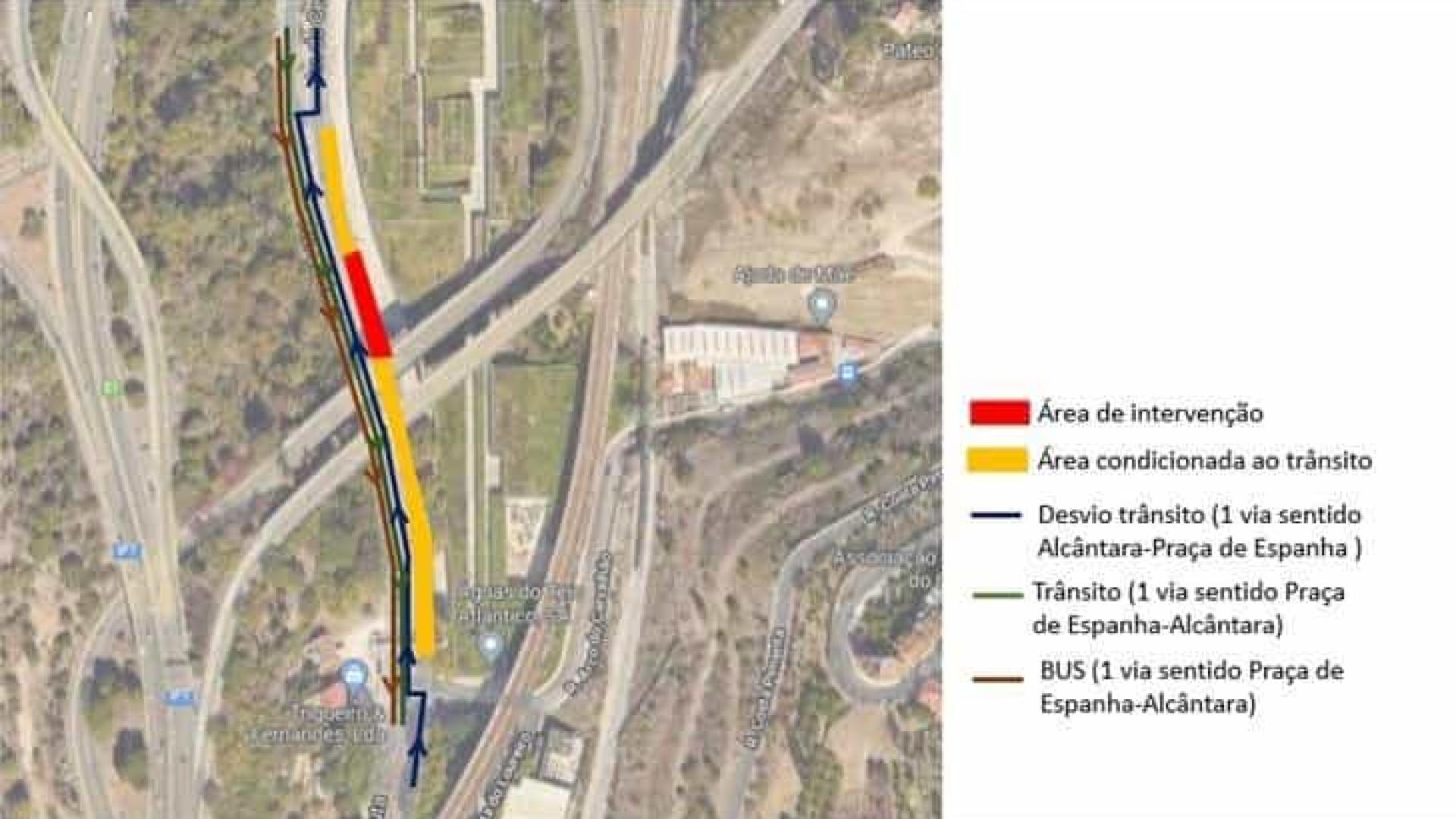 Atenção, desvio na Av. de Ceuta a partir de hoje. Obras vão durar 7 meses
