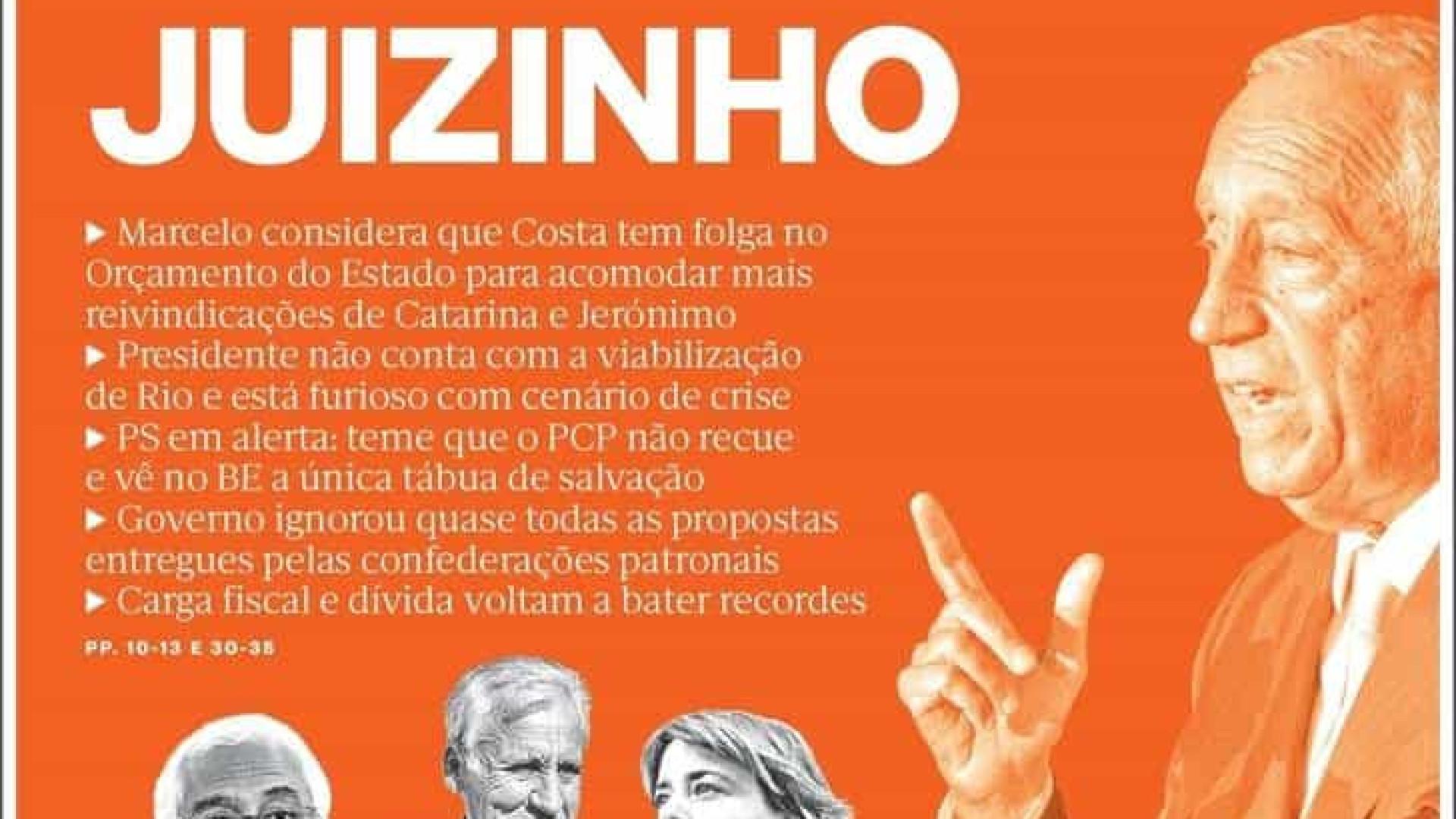 Hoje é notícia: Costa tem folga no OE; CMVM castiga venda do Benfica