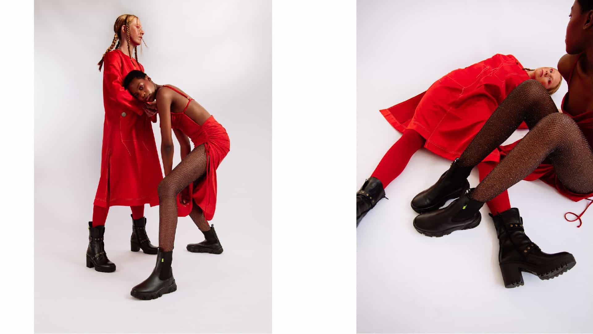 Para tudo! 'The Red Issue' da Fly London é a coleção do momento