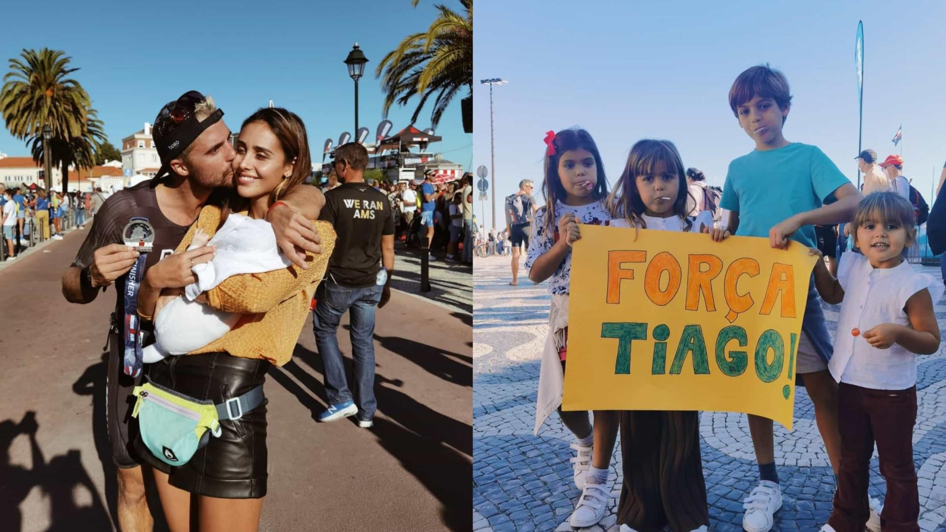 Família Patrocínio apoia Tiago Teotónio Pereira em prova de triatlo