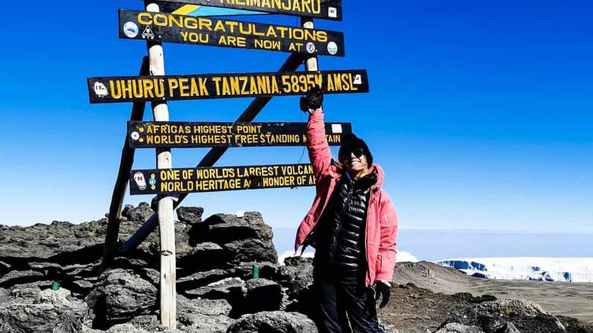 """Pimpinha Jardim subiu ao Kilimanjaro. """"Um desafio muito difícil"""""""