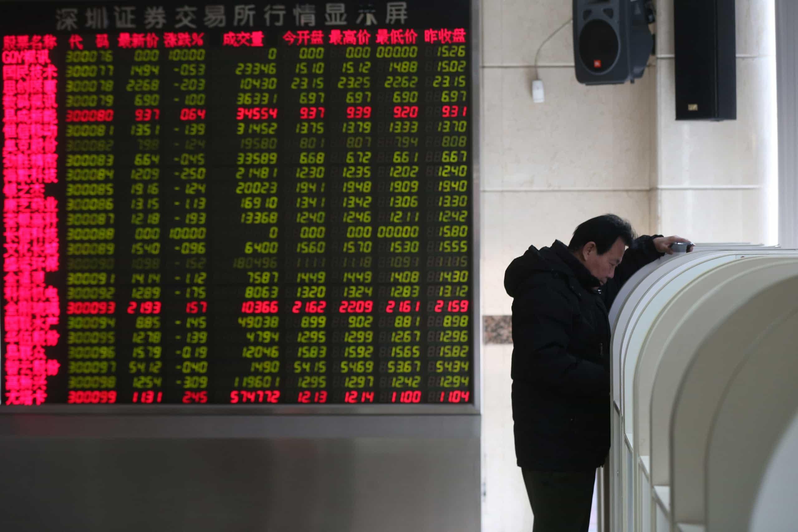 Bolsa de Xangai abre a cair 1,46%