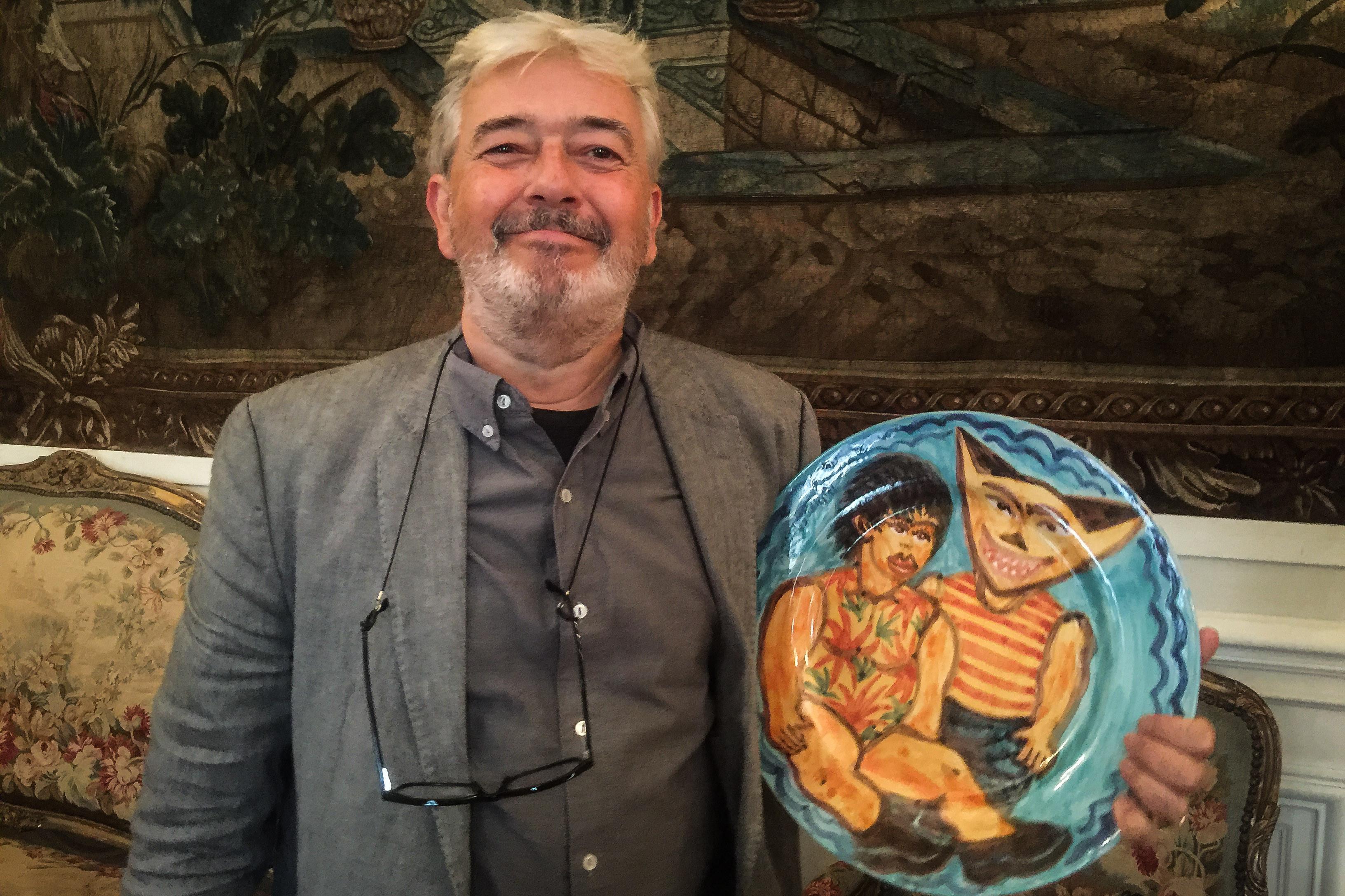 Hervé Di Rosa expõe em Roubaix obras realizadas na fábrica Viúva Lamego