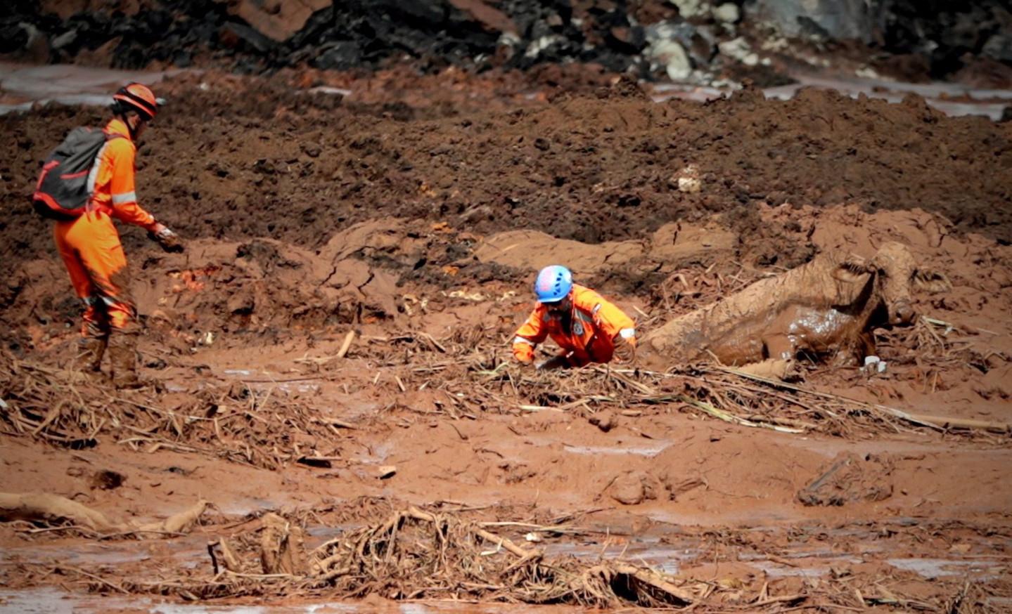 Bombeiros ainda procuram 93 corpos após rutura da barragem de Brumadinho