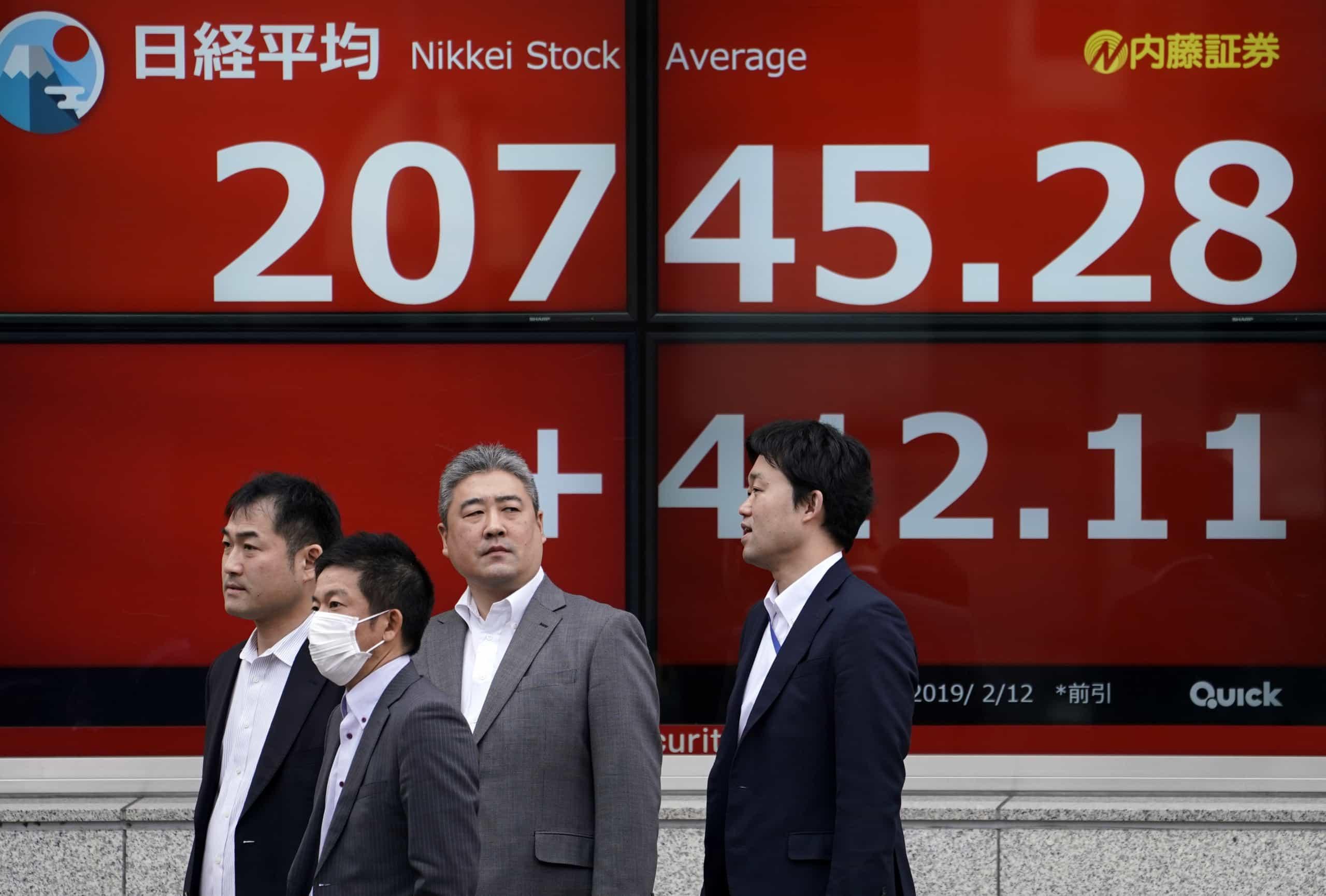 Bolsa de Tóquio avança 0,62% no fecho
