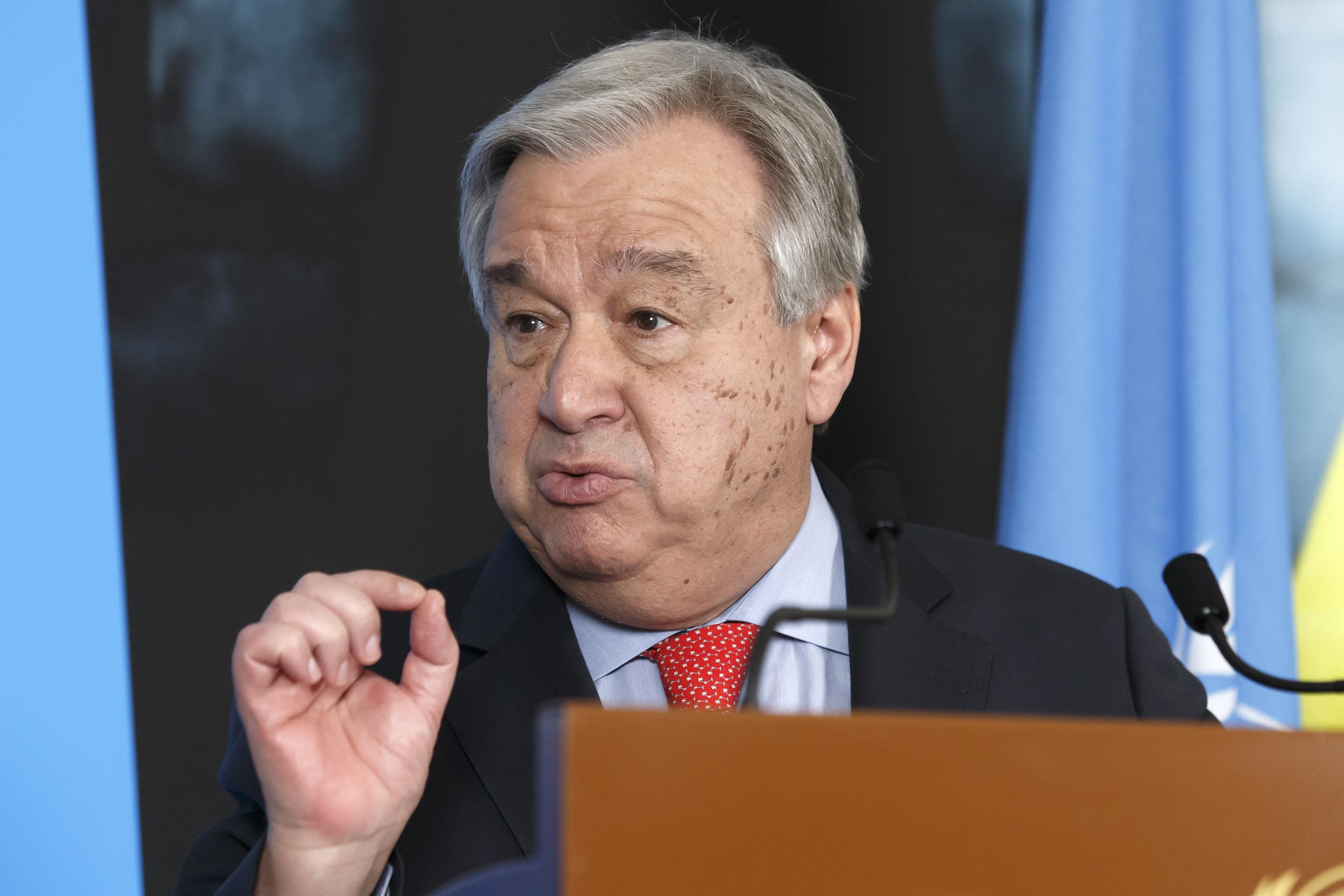 """Guterres """"profundamente entristecido"""" pela queda de avião na Etiópia"""