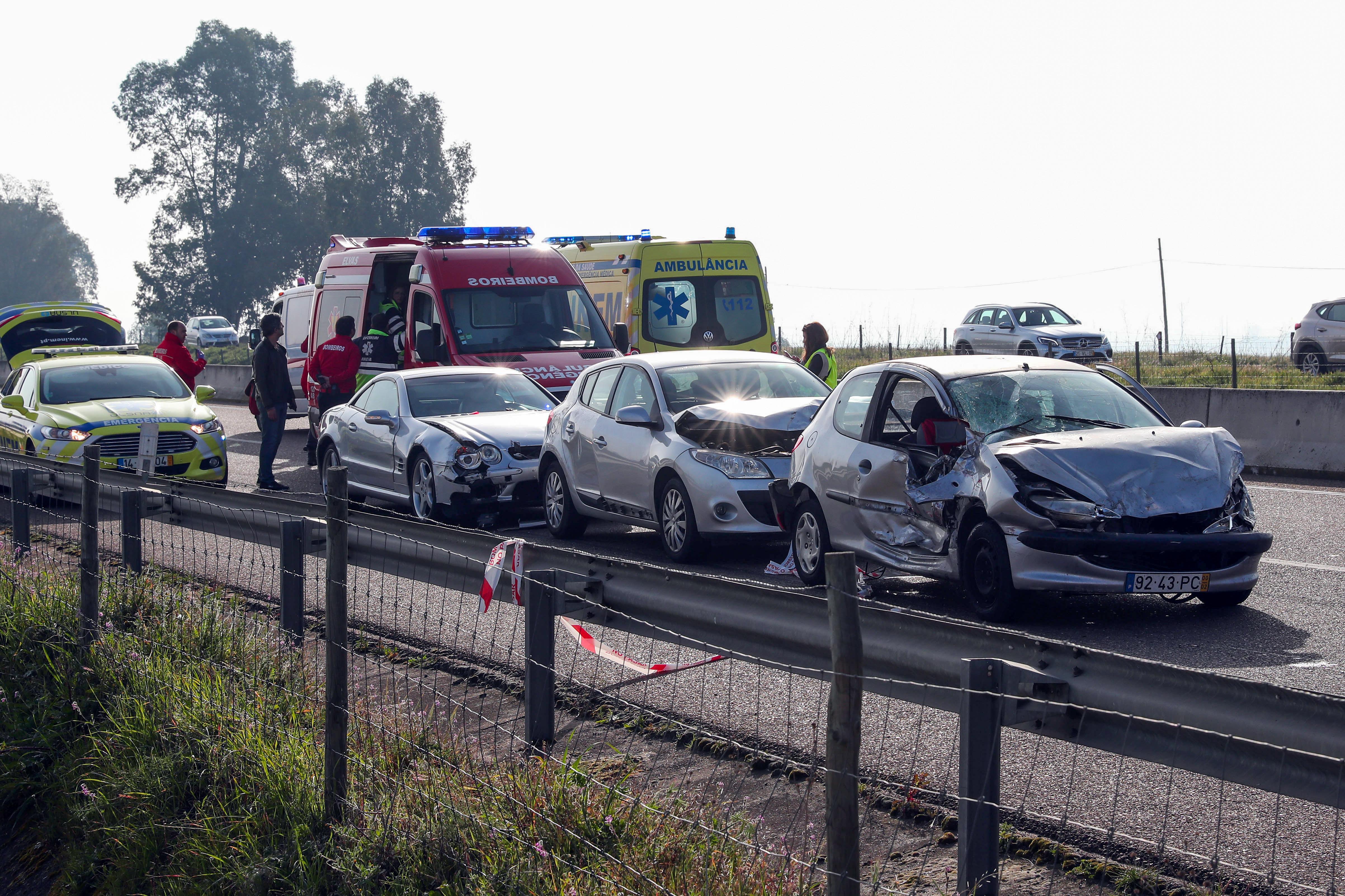 """Ferido do acidente em Elvas recorda entrar em """"saco de fumo e nevoeiro"""""""