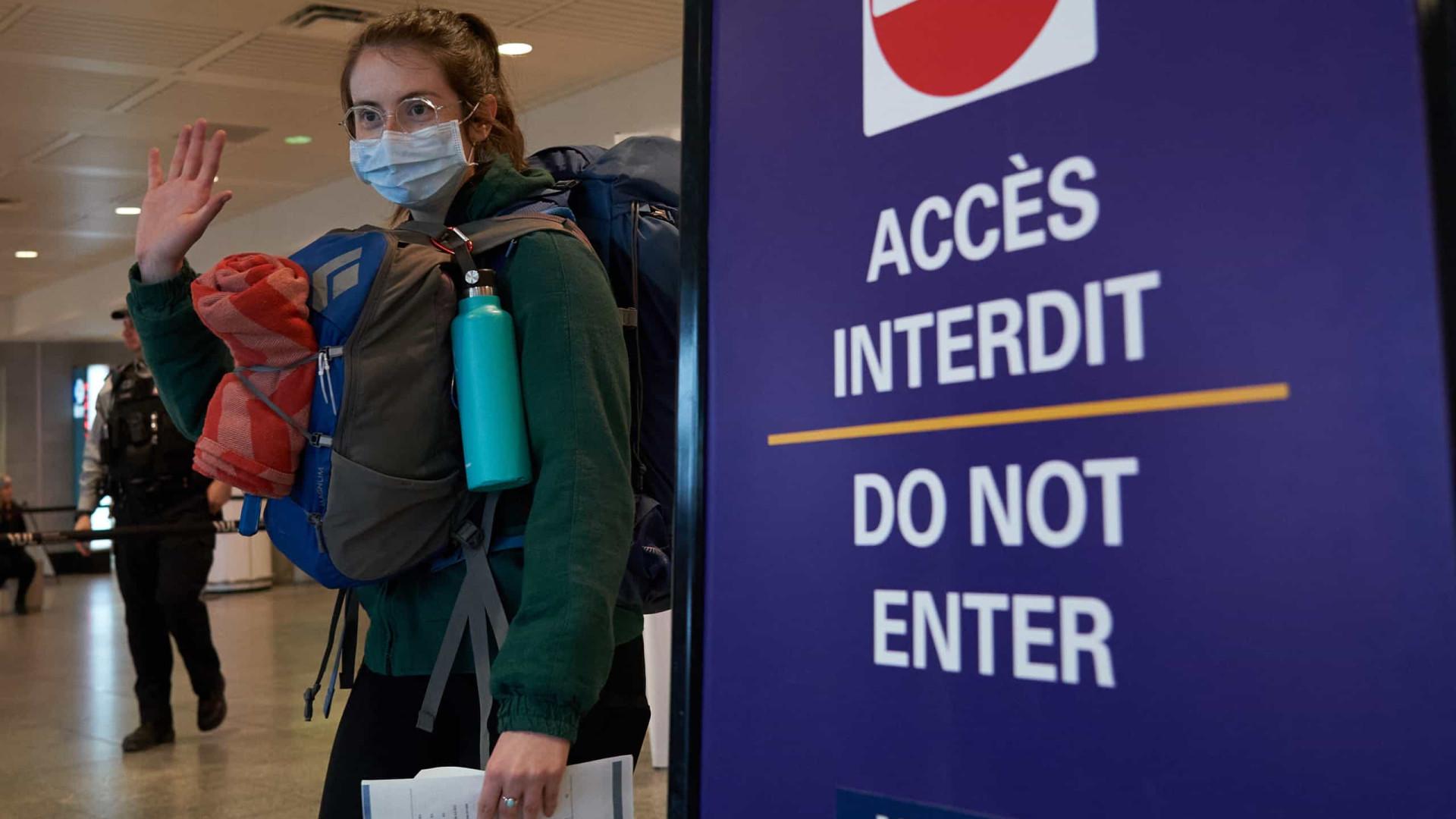 Canadá vai exigir teste negativo a todos os viajantes que entrem no país