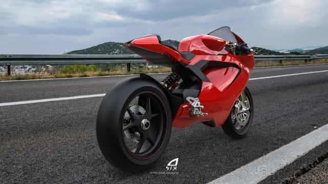 Este 'concept' imagina como será uma Ducati elétrica