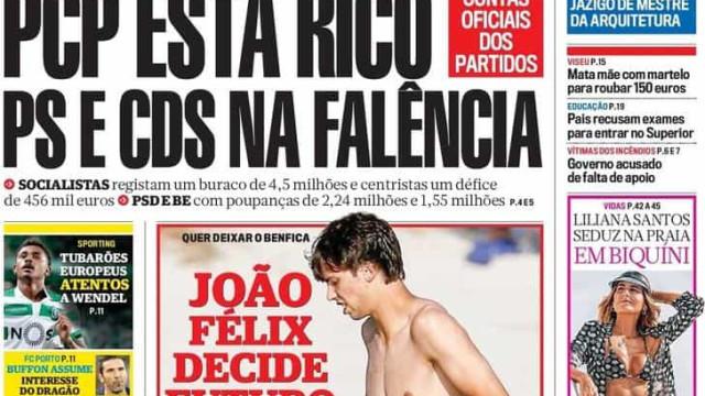 Hoje é notícia: PCP rico, PSD e CDS pobres; Burla com emails de Portugal