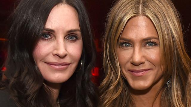 Foto de Courteney Cox põe fim a rumores de zanga com Jennifer Aniston