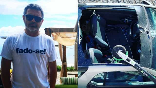"""Nilton mostra carro de amigo destruído: """"Trotinete acasala com Smart"""""""
