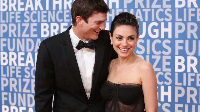 Mila KuniseAshton Kutcher reagem com humor a rumores de separação