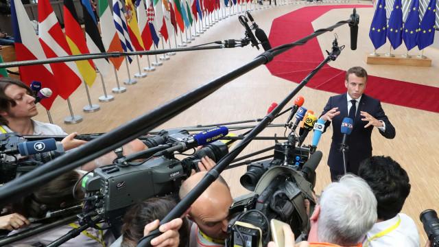 """Macron diz que França quer a """"melhor equipa"""" a dirigir a União Europeia"""