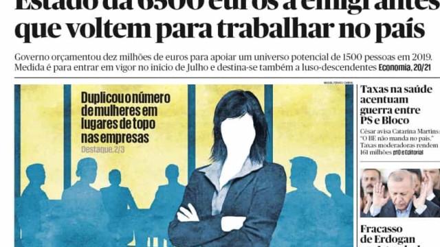 Hoje é notícia: 6.500 euros para emigrantes; Sexo nas cadeias, os números