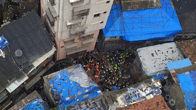 Dois mortos e mais de 40 desaparecidos após colapso de prédio em Bombaim