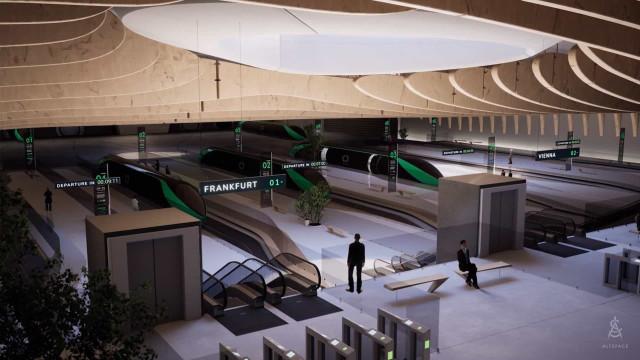 Hyperloop. Veja como serão as estações do transporte do futuro