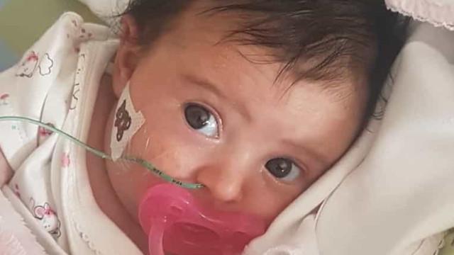 """Bebé Matilde em casa para """"uma nova etapa, ainda longa e difícil"""""""