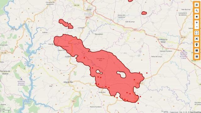 Fogos de Vila de Rei, Sertã e Mação com quase 9 mil hectares ardidos