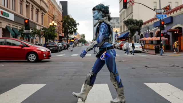 Super-herói ou vilão? O desfile de cosplayers da Comic-Con de San Diego