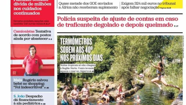 Hoje é notícia: Forças da PSP processam Estado; Farmácias sem remédios