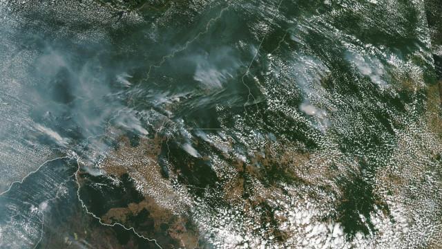 Amazónia. Fumo de incêndios pode ser visto do Espaço