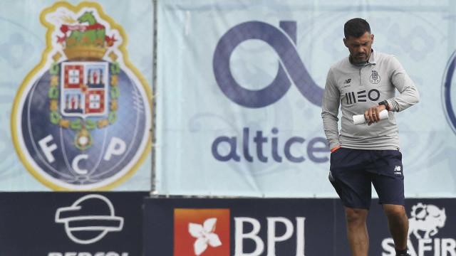 Sérgio Conceição ainda com três 'dores de cabeça' para o Clássico