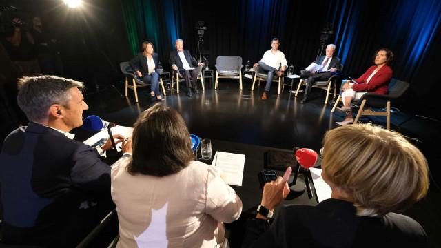 Legislativas. As imagens dos líderes partidários no 1.º grande debate