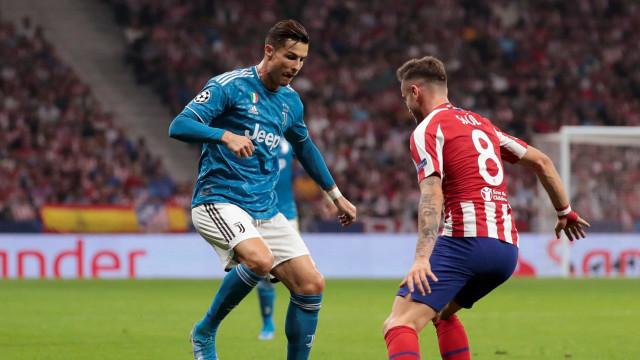 [0-0] Intervalo no Atlético-Juventus. Continua tudo empatado em Madrid