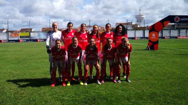 Benfica volta a golear na Liga feminina. Já lá vão 31 golos em dois jogos