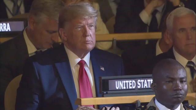 Trump fez aparição surpresa na cimeira da Nações Unidas mas sem intervir