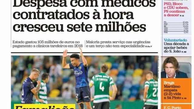Hoje é notícia: PS segue a descer; Raspadinha rasgada faz perder 36 mil €