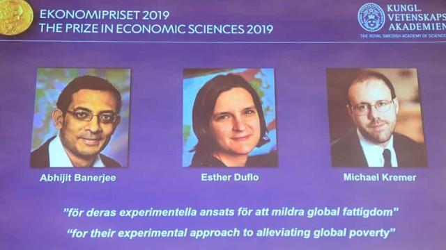 Nobel da Economia para Abhijit Banerjee, Esther Duflo e Michael Kremer