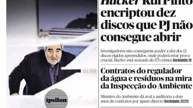 Hoje é notícia: Rui Pinto dificulta vida à PJ; Pancadaria em julgamento