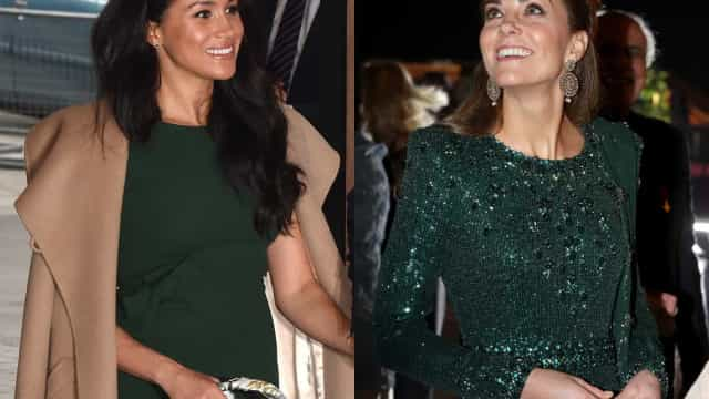 Look da Semana: Kate Middleton e Meghan Markle 'brilham' com a mesma cor