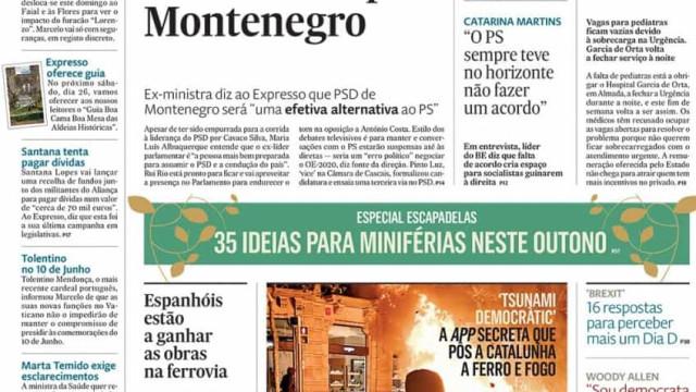 Hoje é notícia: Maria Luís apoia Montenegro; Governantes em negócio