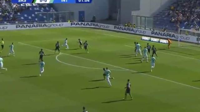 Aos 65 segundos do Sassuolo-Inter, Lautaro Martínez marcou este golaço