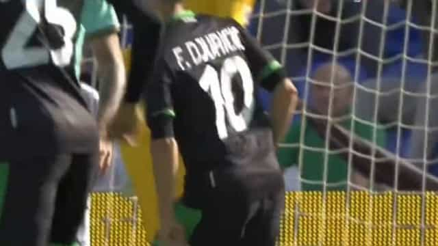 Djuricic (lembra-se?) marcou o primeiro golo da época e logo ao Inter