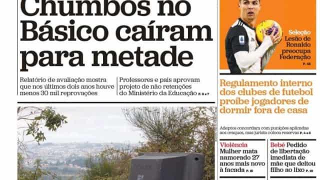 Hoje é notícia: Chumbos no Básico caem para metade; Imigração sobe 18%