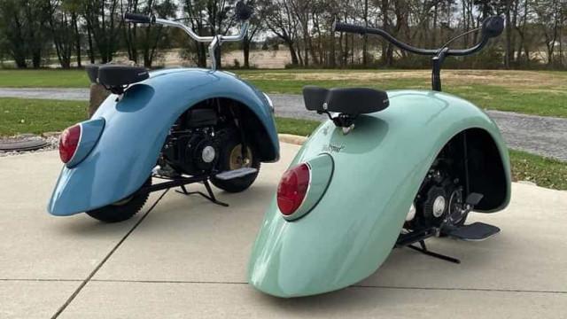 Ícone da Volkswagen foi convertido em duas pequenas (e charmosas) motas