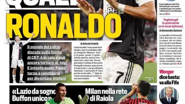 Lá fora: O adeus ao homem golo e Itália de olhos postos em Ronaldo
