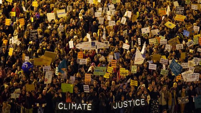 De Madrid para o mundo. Meio milhão de pessoas na Marcha pelo Clima