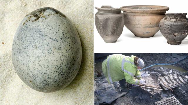 Arqueólogos partem ovos com 1.700 anos. Mas recuperam um intacto