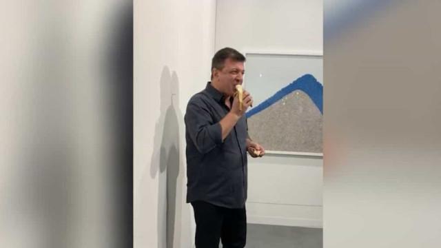 Eis o visitante que comeu a banana de 108 mil euros. Pode ser processado